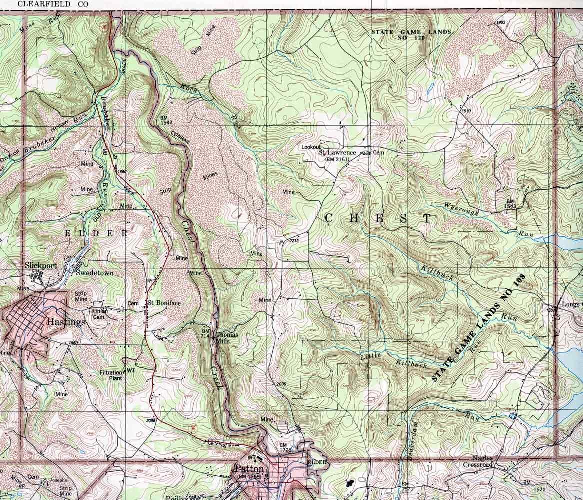 Cambria County Pennsylvania Township Maps on