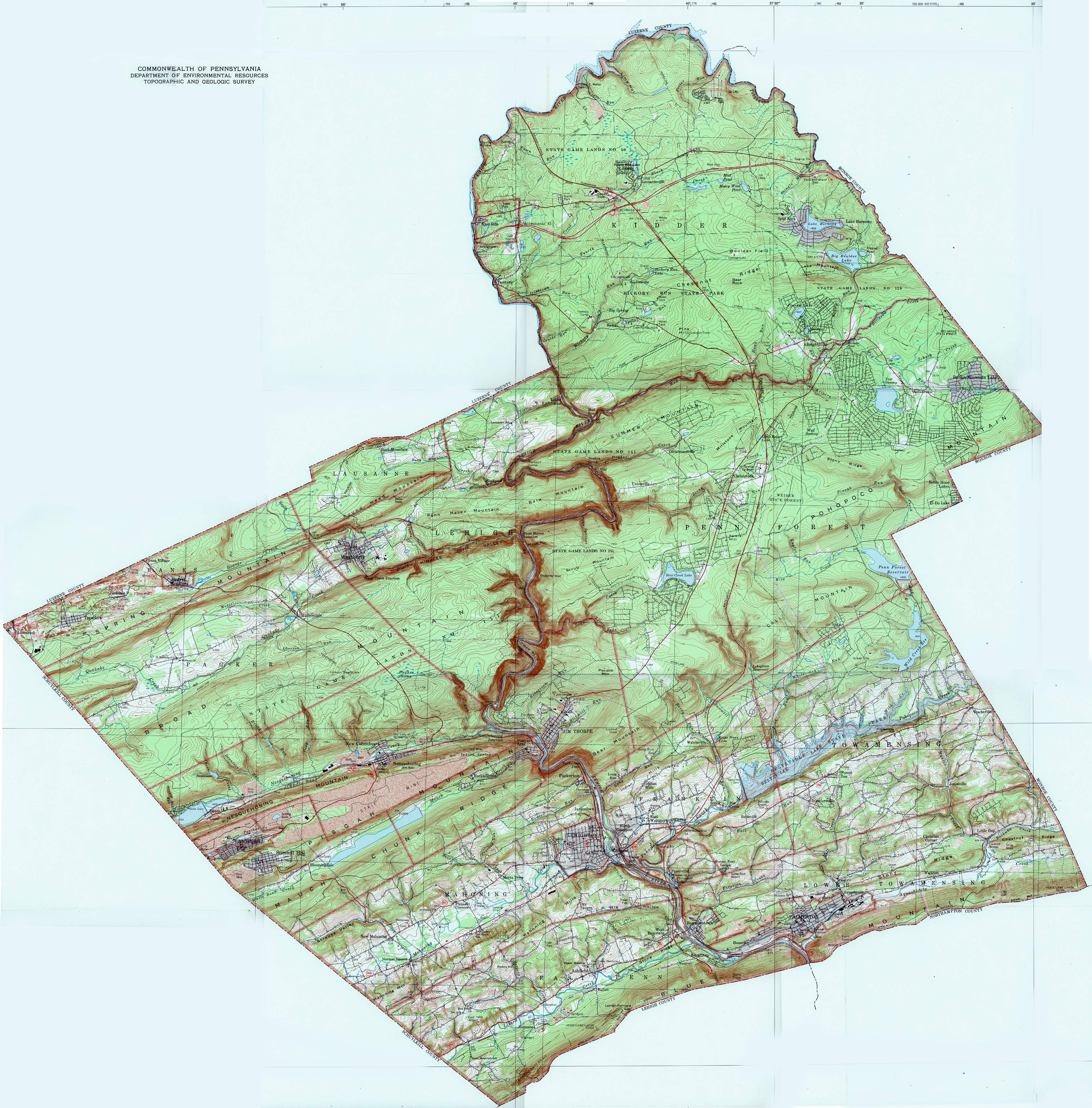 To see the consolidated USGS map of