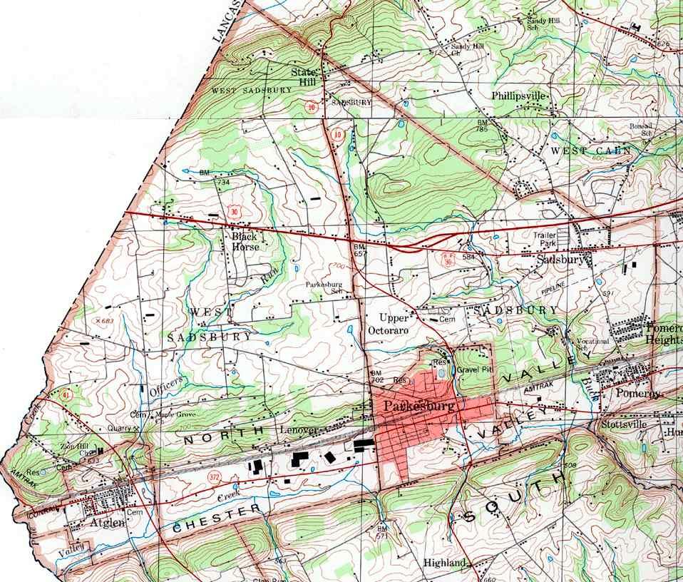 Chester County Pennsylvania Township Maps