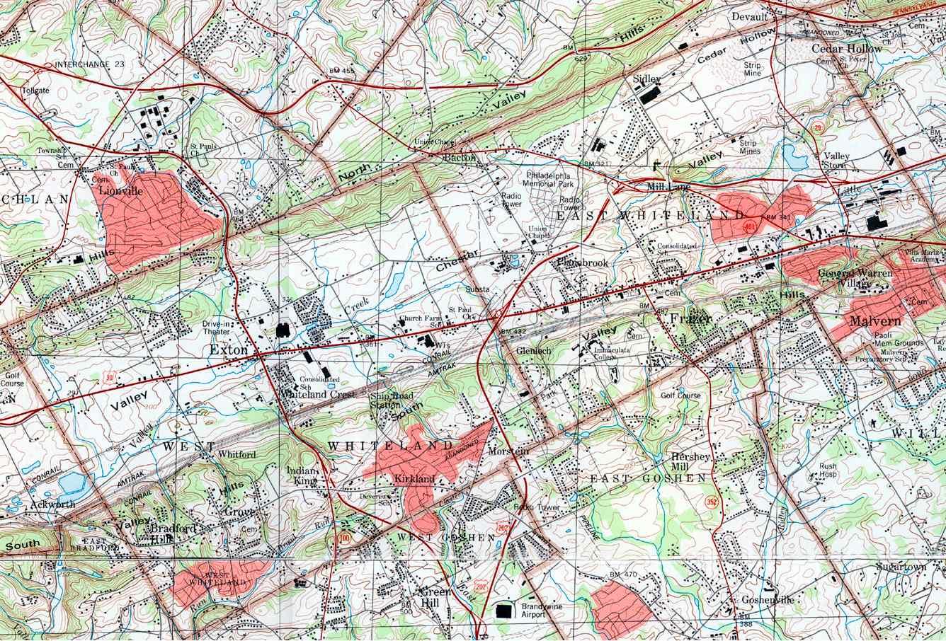 County Pennsylvania Township Maps - Malvern Pennsylvania On Us Map