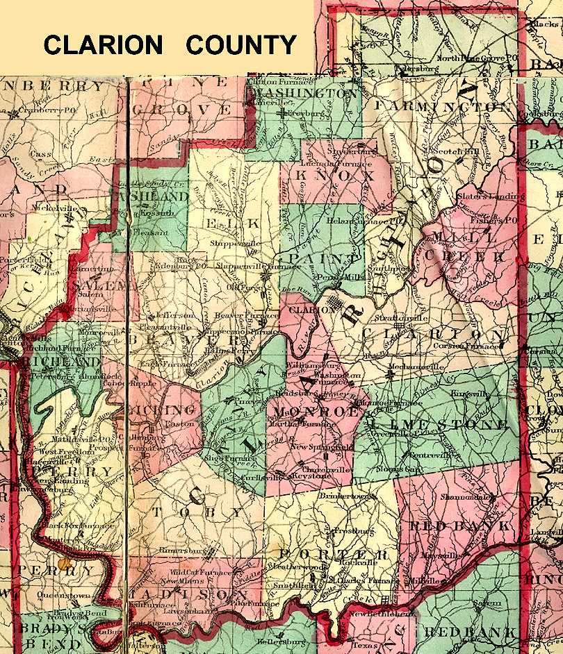 Clarion County, Pennsylvania: Maps and Gazetteers on