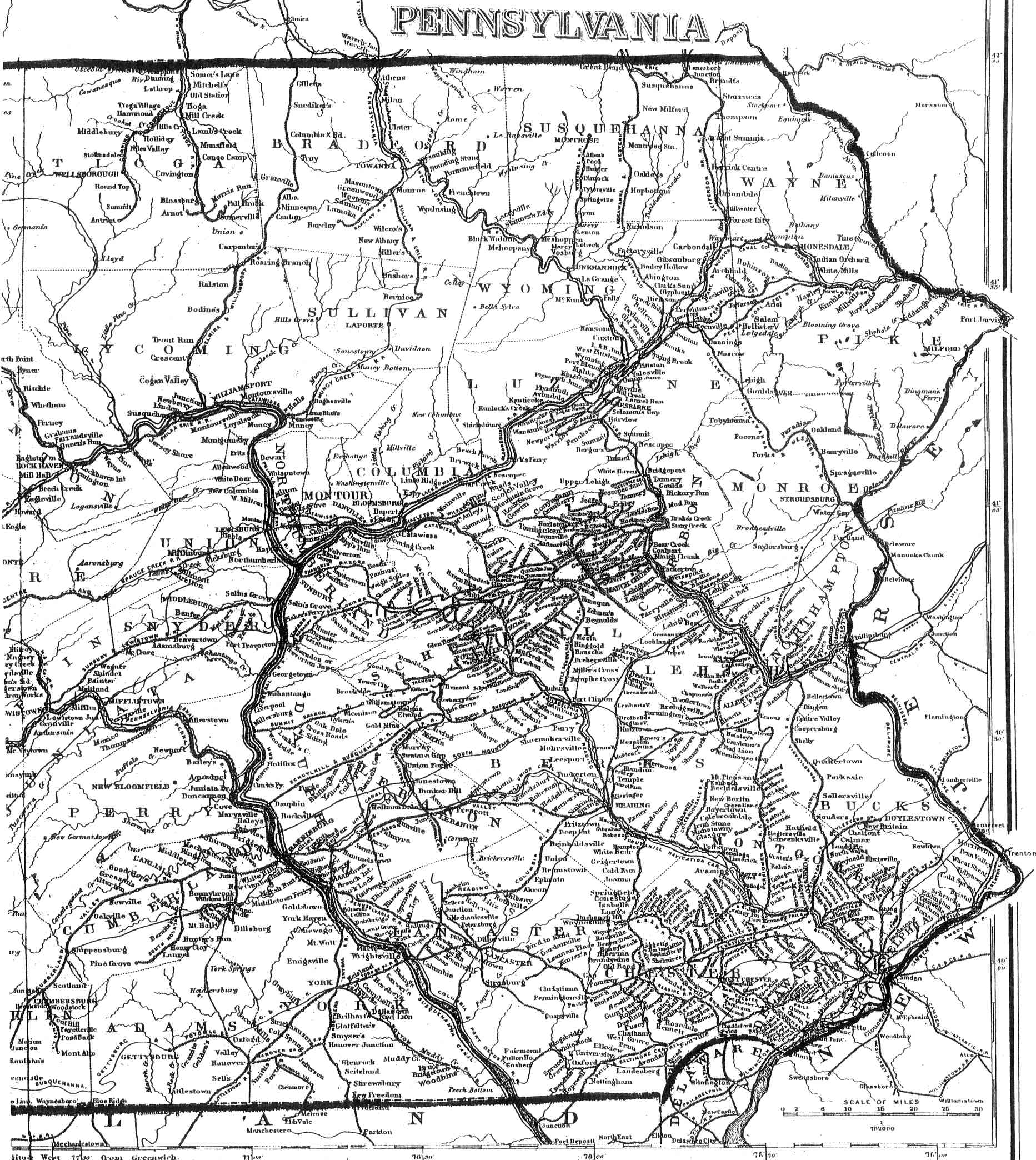Pennsylvania County USGS Maps - Map of penna