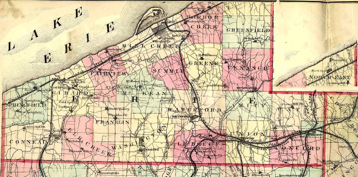 Erie County Pennsylvania Maps and Gazetteers