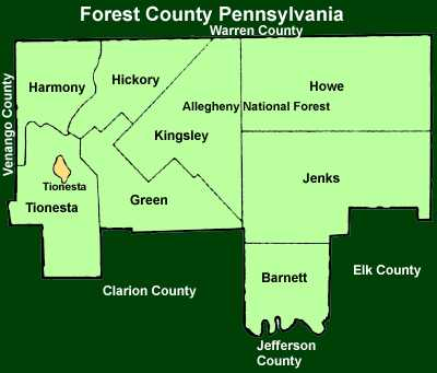 Forest County Pennsylvania Township Maps