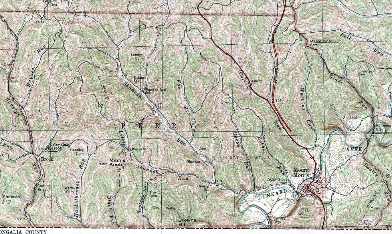 Greene County Pennsylvania Township Map