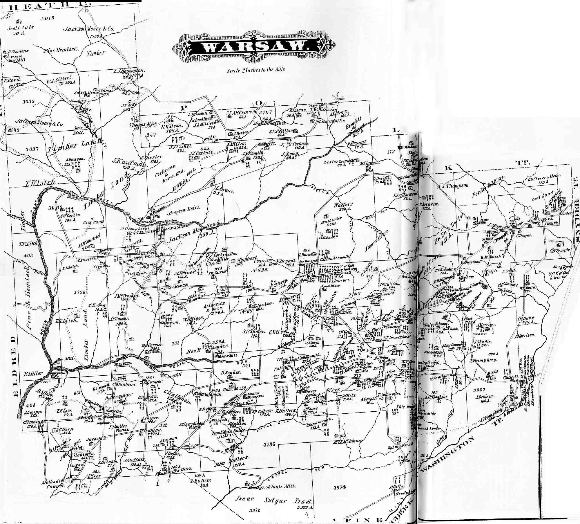 Jefferson County Pennsylvania Atlas, 1878 on old maps of columbia county, old schools in st. croix county wi, old texas state map,