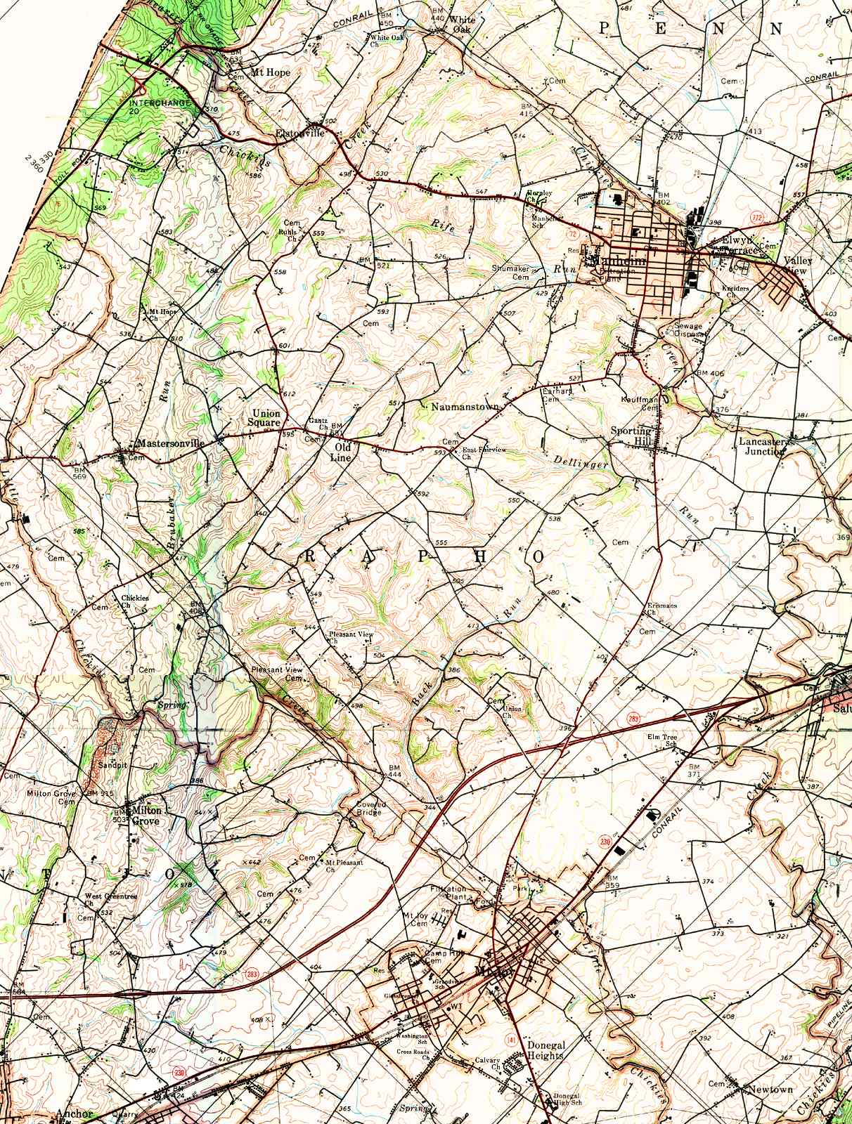 Lancaster County Pennsylvania Township Maps