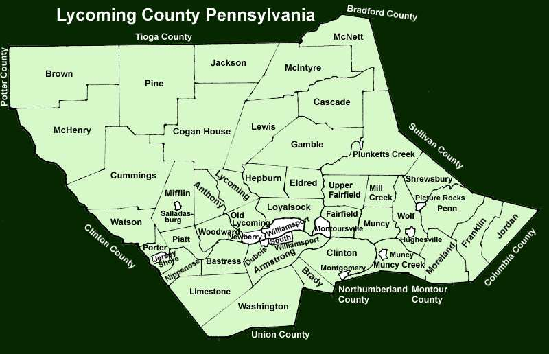 Ly ing County Pennsylvania Township Maps
