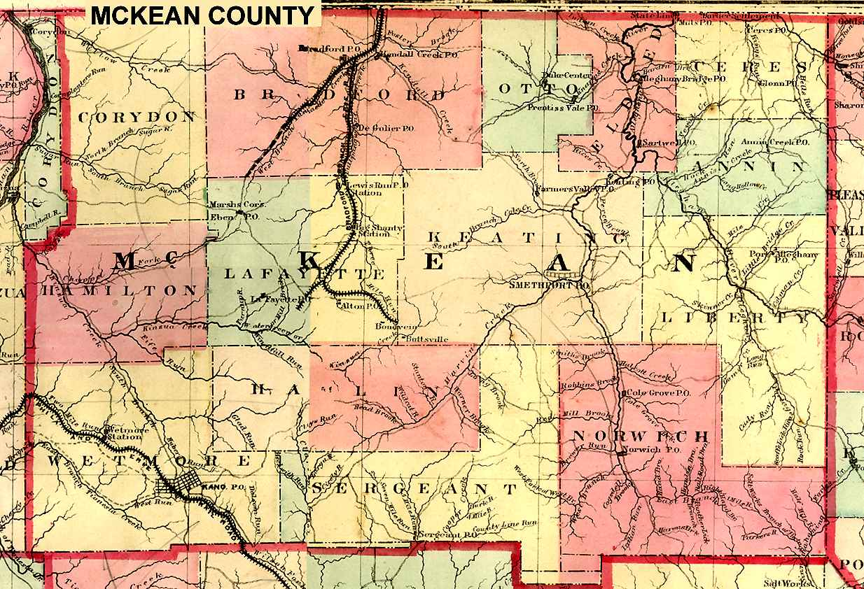 McKean County Pennsylvania Maps And Gazetteers - Pennsylvania county map