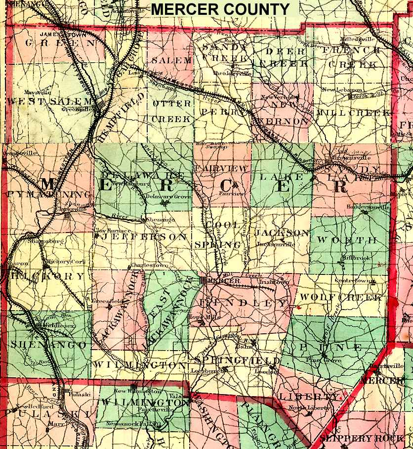 Pennsylvania County USGS Maps - Map of pa towns
