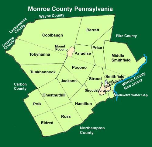 Monroe County Pennsylvania Township Maps