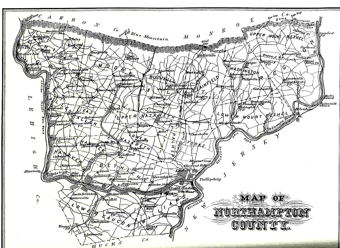 Northampton County Pennsylvania Atlas 1874