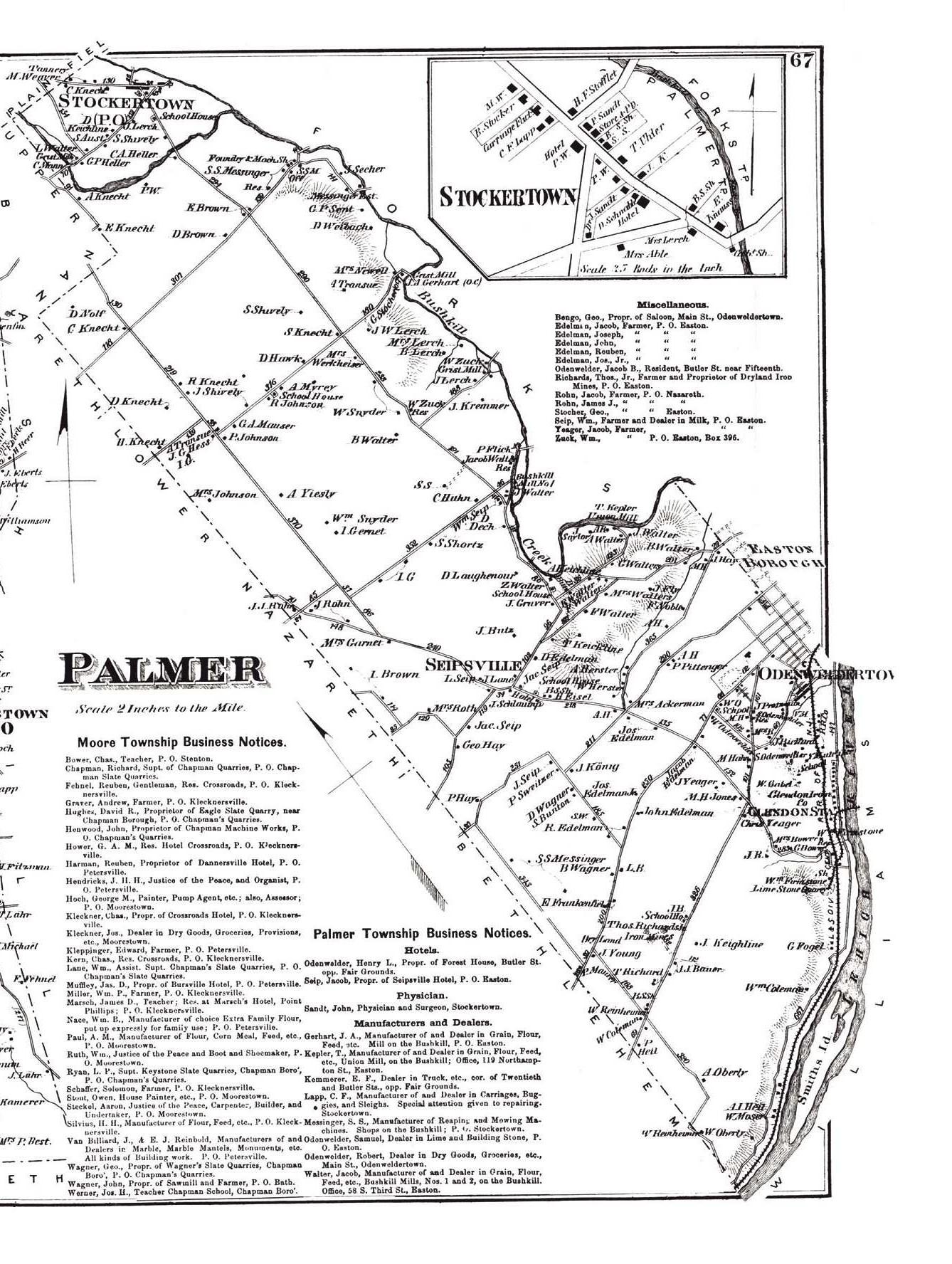 Northampton County Pennsylvania Atlas 1874