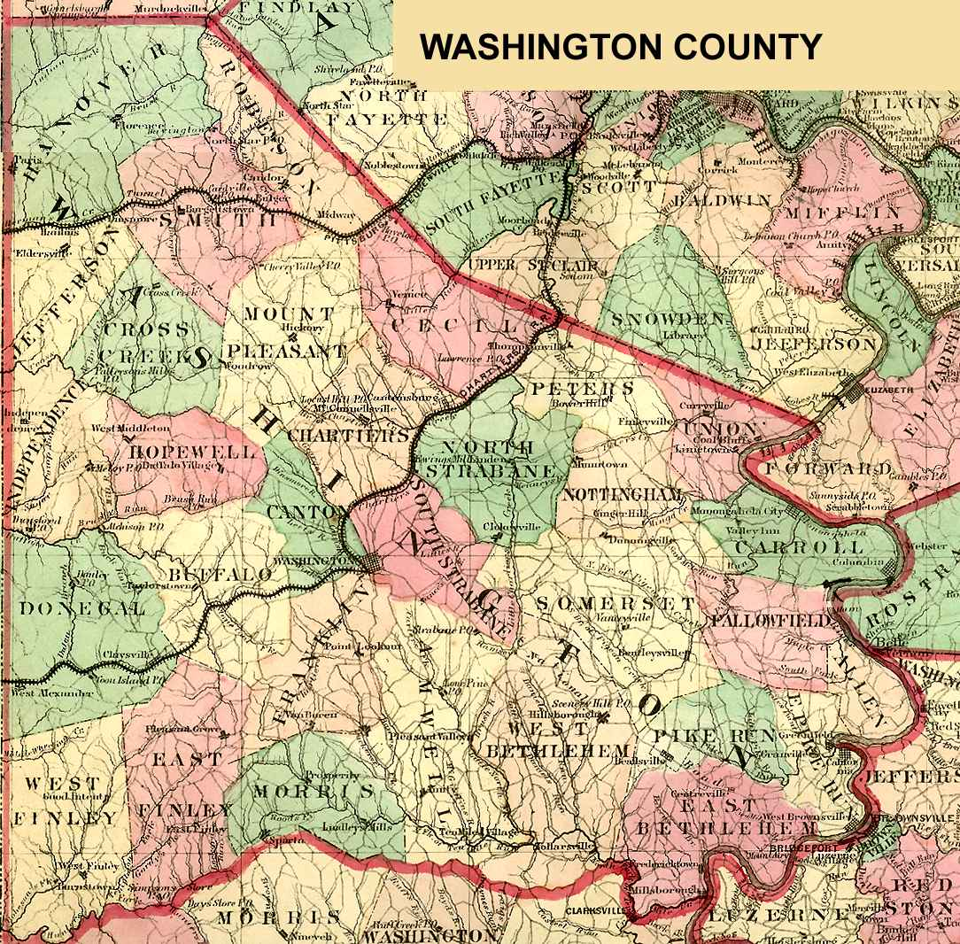 Washington County Pennsylvania Maps and Gazetteers