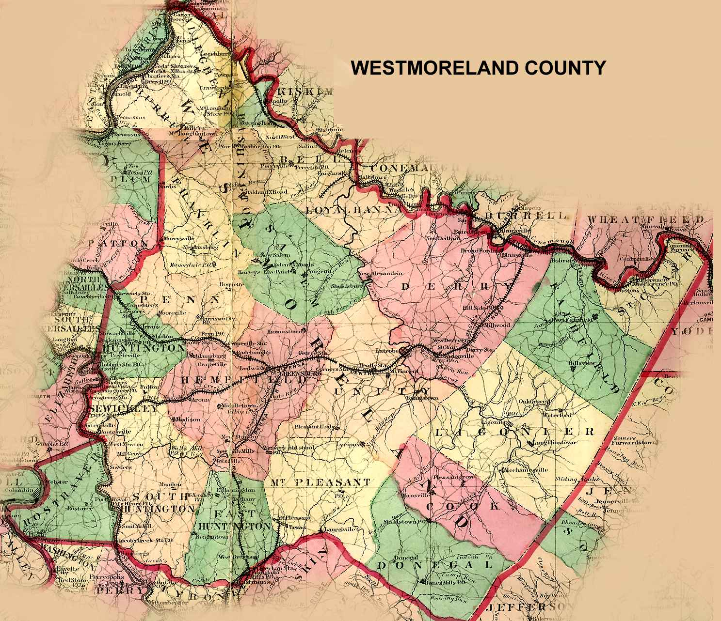 Westmoreland County, Pennsylvania: Maps and Gazetteers