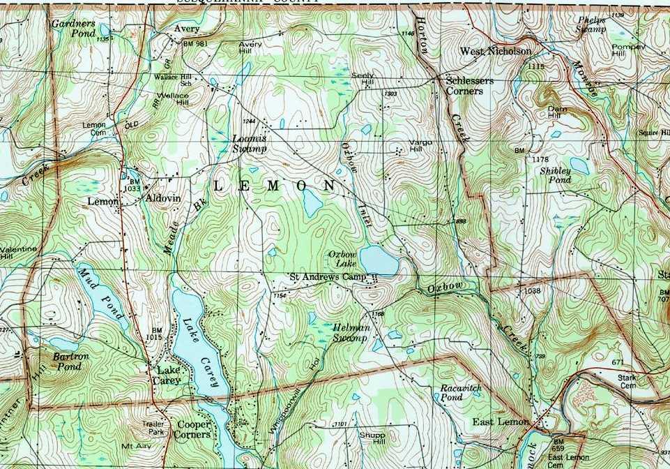 Wyoming County Pennsylvania Township Maps - Maps wyoming