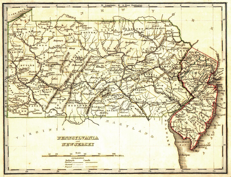 Pennsylvania Maps Pennsylvania Digital Map Library Table Of - Penn map state maps