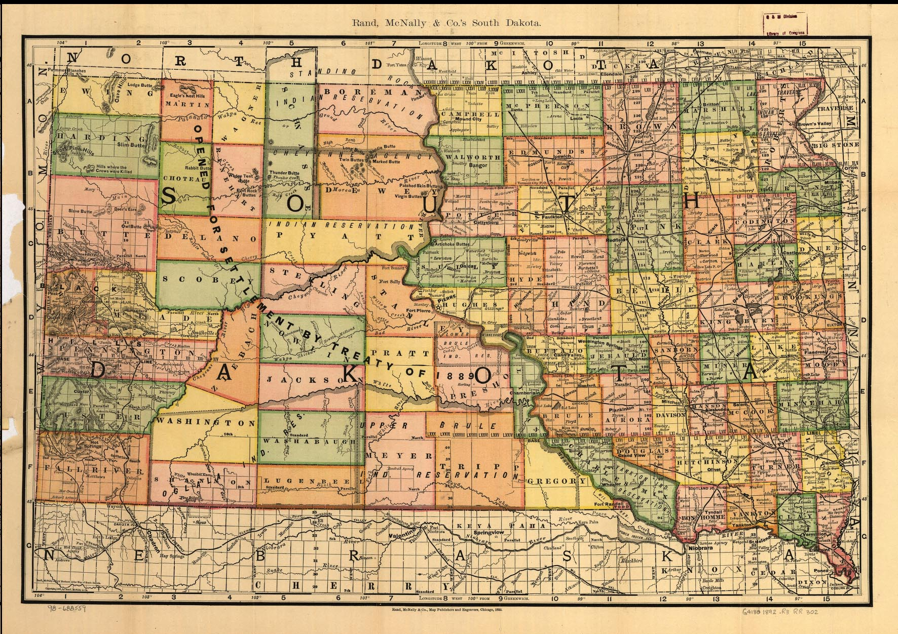 South Dakota Maps South Dakota Digital Map Library Table Of - Map of sd