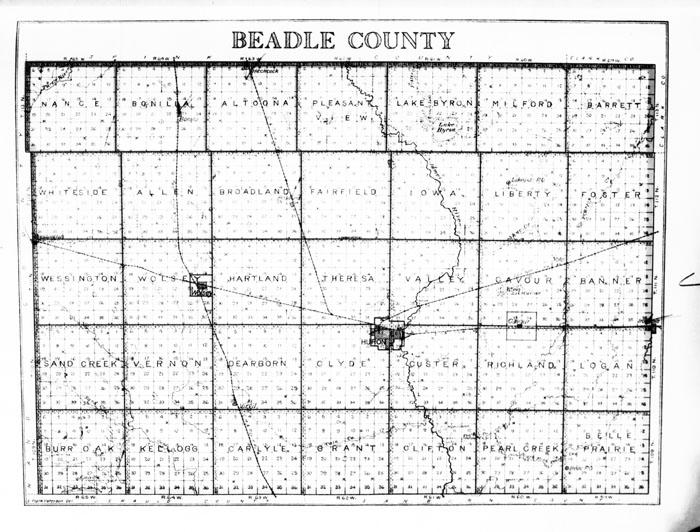 South Dakota Maps South Dakota Digital Map Library Table Of - Sd maps