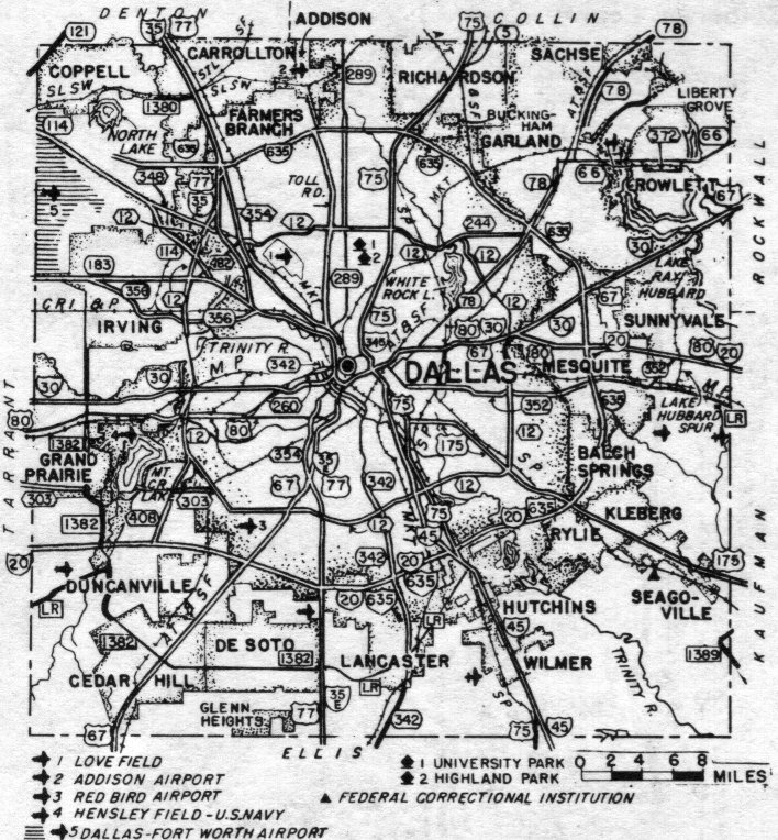 Dallas County, Texas: Maps and Gazetteers on