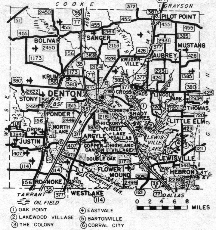 Denton County Texas Maps and Gazetteers
