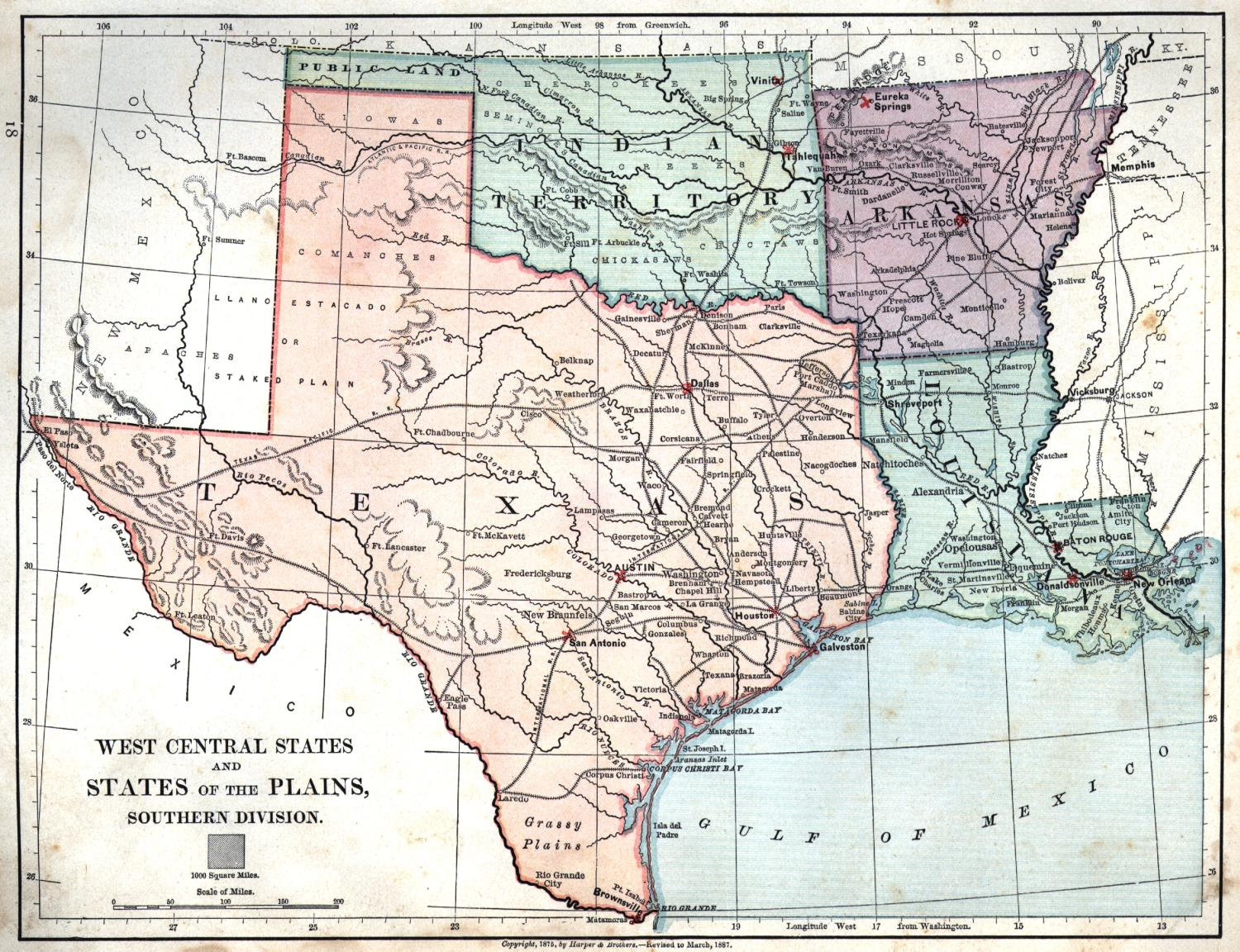 Map Of Texas And Louisiana  Kelloggrealtyinc
