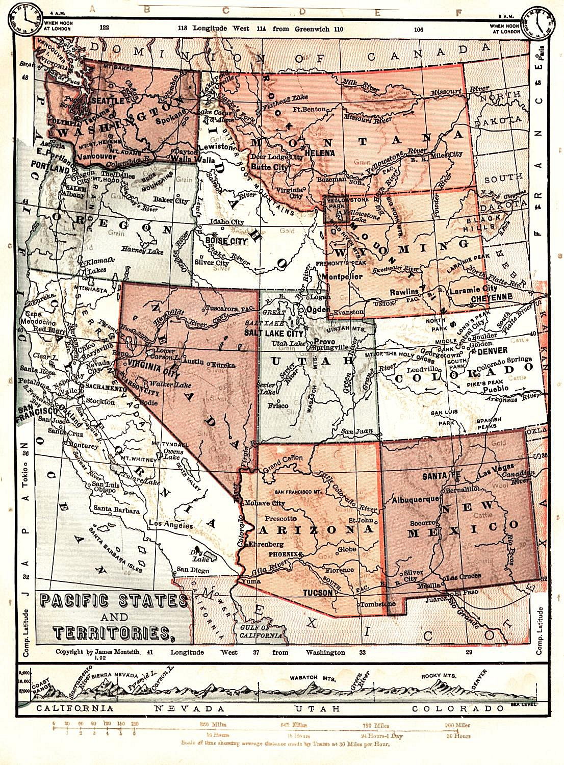 Wyoming Maps Wyoming Digital Map Library Table Of Contents - Map of nevada and arizona usa