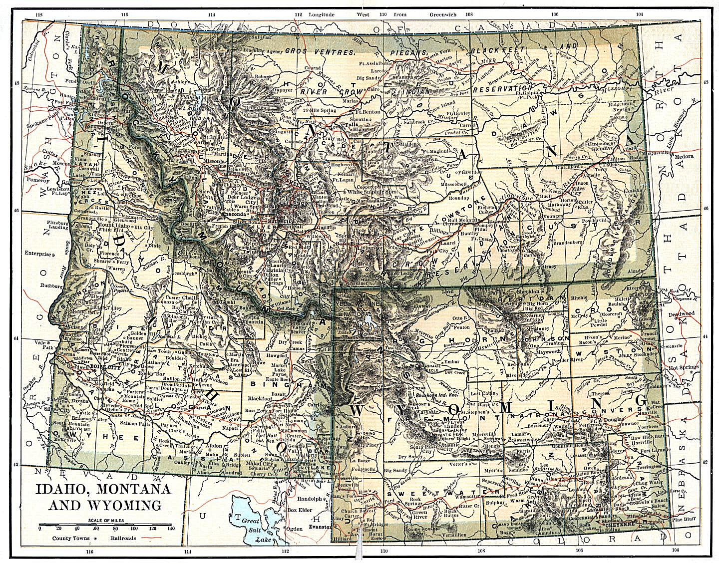 Wyoming Maps Wyoming Digital Map Library Table Of Contents - Wyoming map