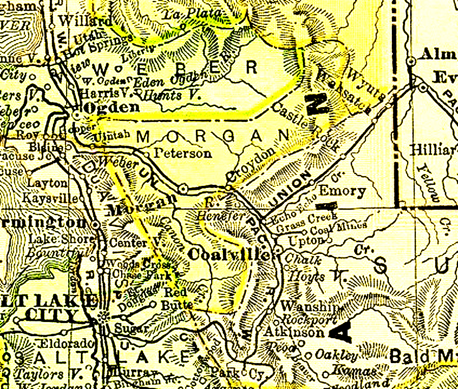 Utah 1895 County Maps