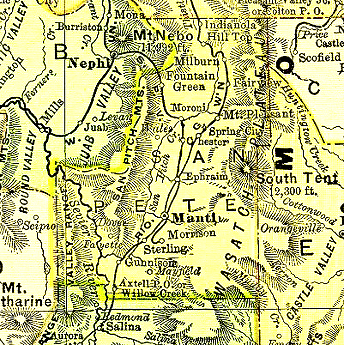 Sanpete County Utah Map.Sanpete County Utah Maps And Gazetteers