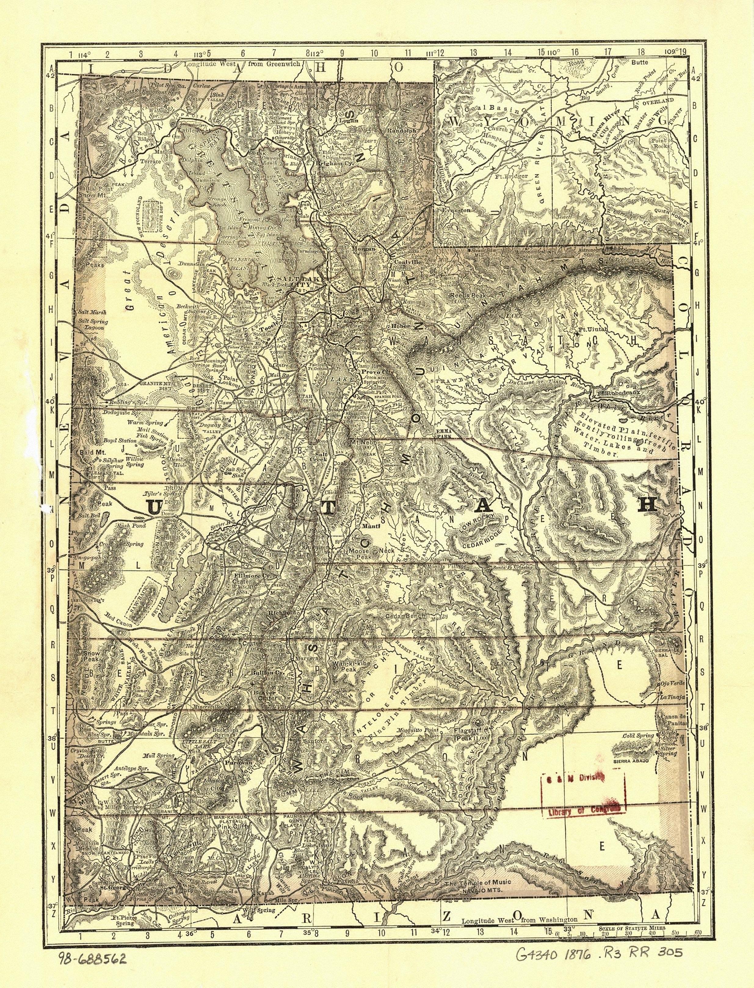 Utah Maps. Utah Digital Map Library. Table of Contents. United ...
