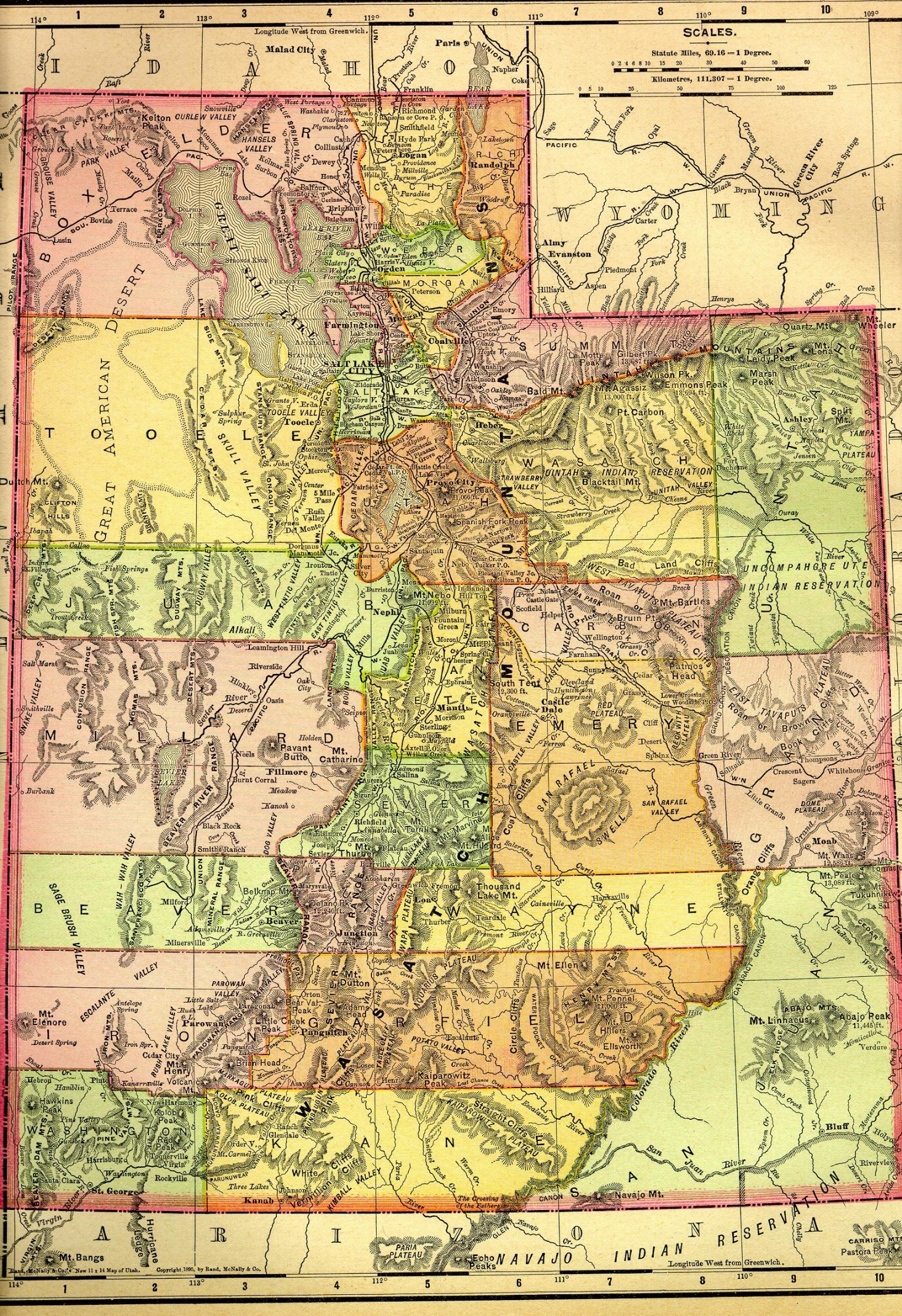 Utah Maps Utah Digital Map Library Table Of Contents United