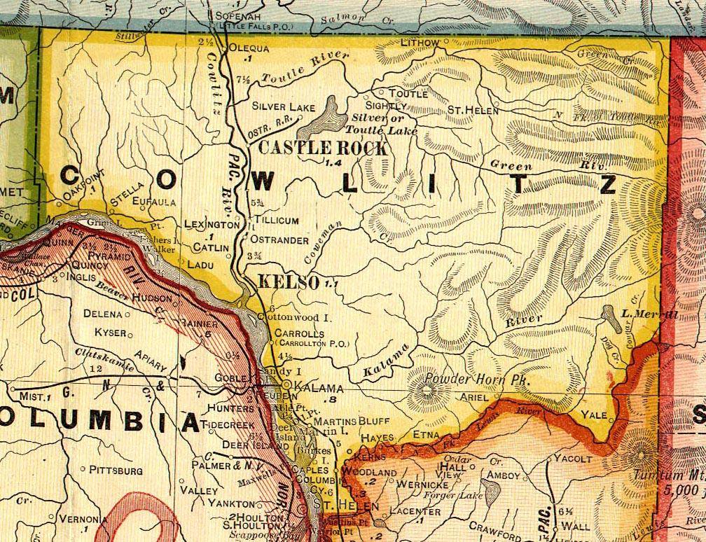 cowlitz.jpg, 1909 Cowlitz County Map