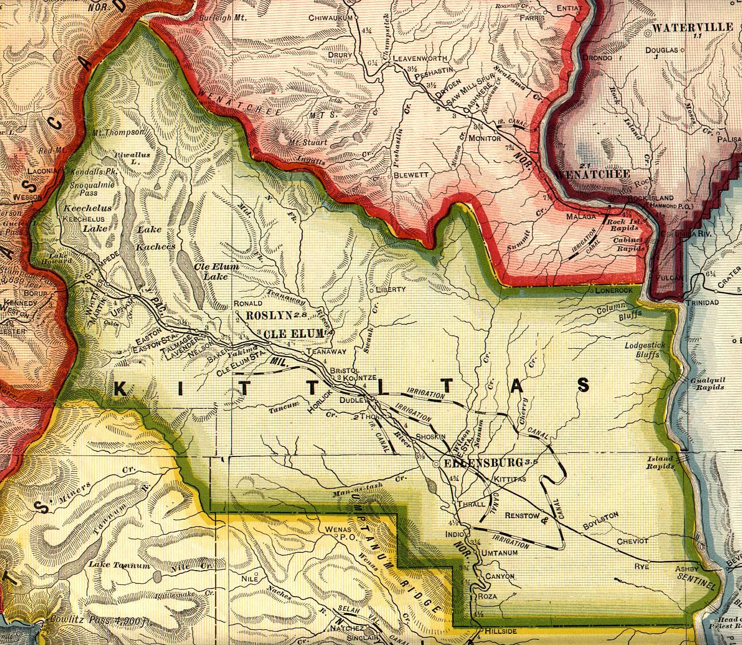 Kittitas County, Washington Maps and Gazetteers