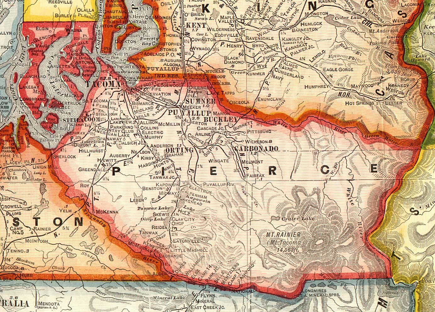 Crams Superior Map Of Washington Washington Digital Map - Washington map