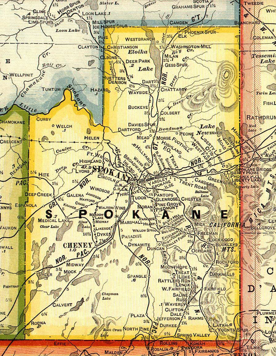 Spokane County Washington Maps and Gazetteers