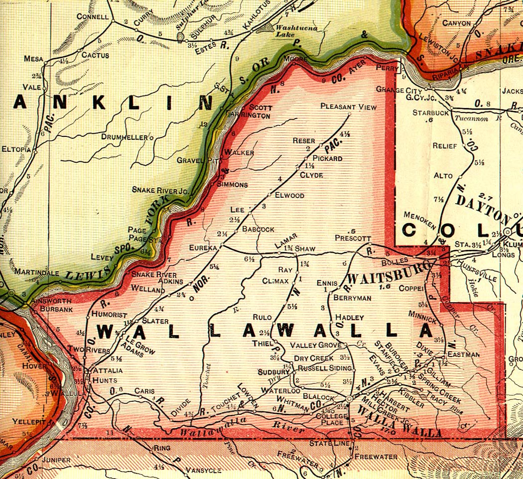 Walla Walla County Washington Maps and Gazetteers