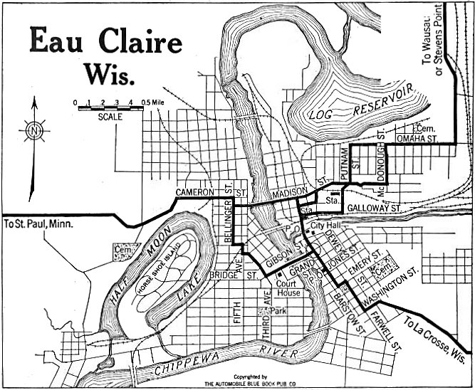 Eau Claire County Wisconsin Maps and Gazetteers