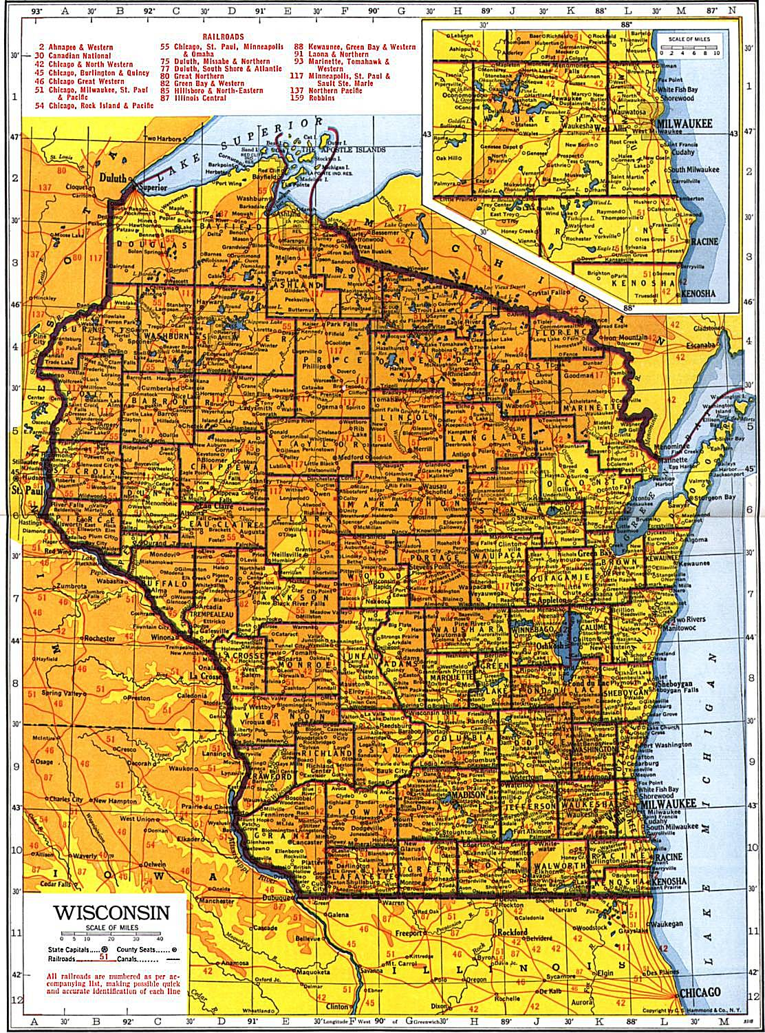 Wisconsin Maps Wisconsin Digital Map Library Table Of Contents - Wisconsin maps