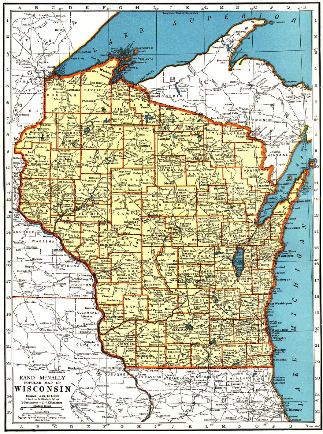Wisconsin Maps Wisconsin Digital Map Library Table Of Contents - Map of wisconsin and minnesota