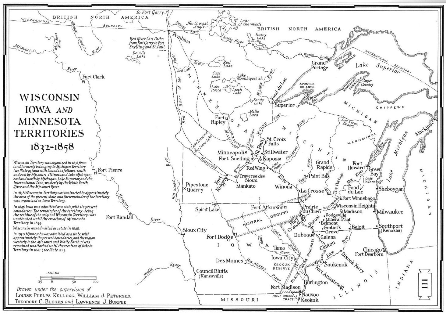 USGenWeb Archives Digital Maps Project Minnesota - Map of wisconsin and minnesota