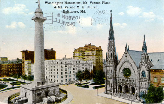Washington Monument, Mt. Vernon Place U0026 Mt. Vernon M. E. Church