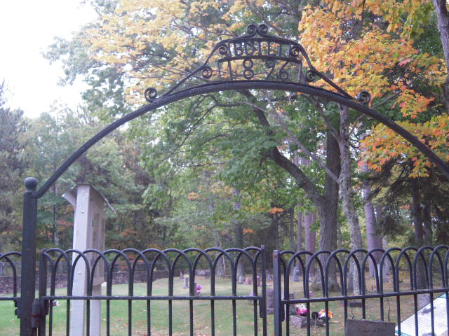 Pequaming Cemetery Entrance