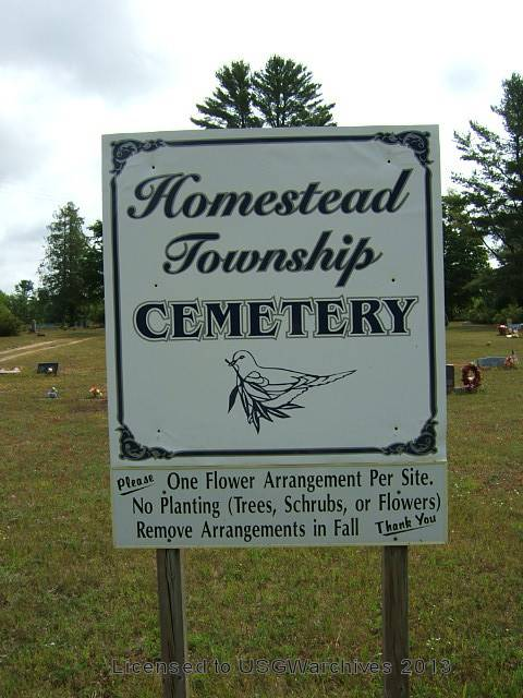 Homestead Township Cemetery sign