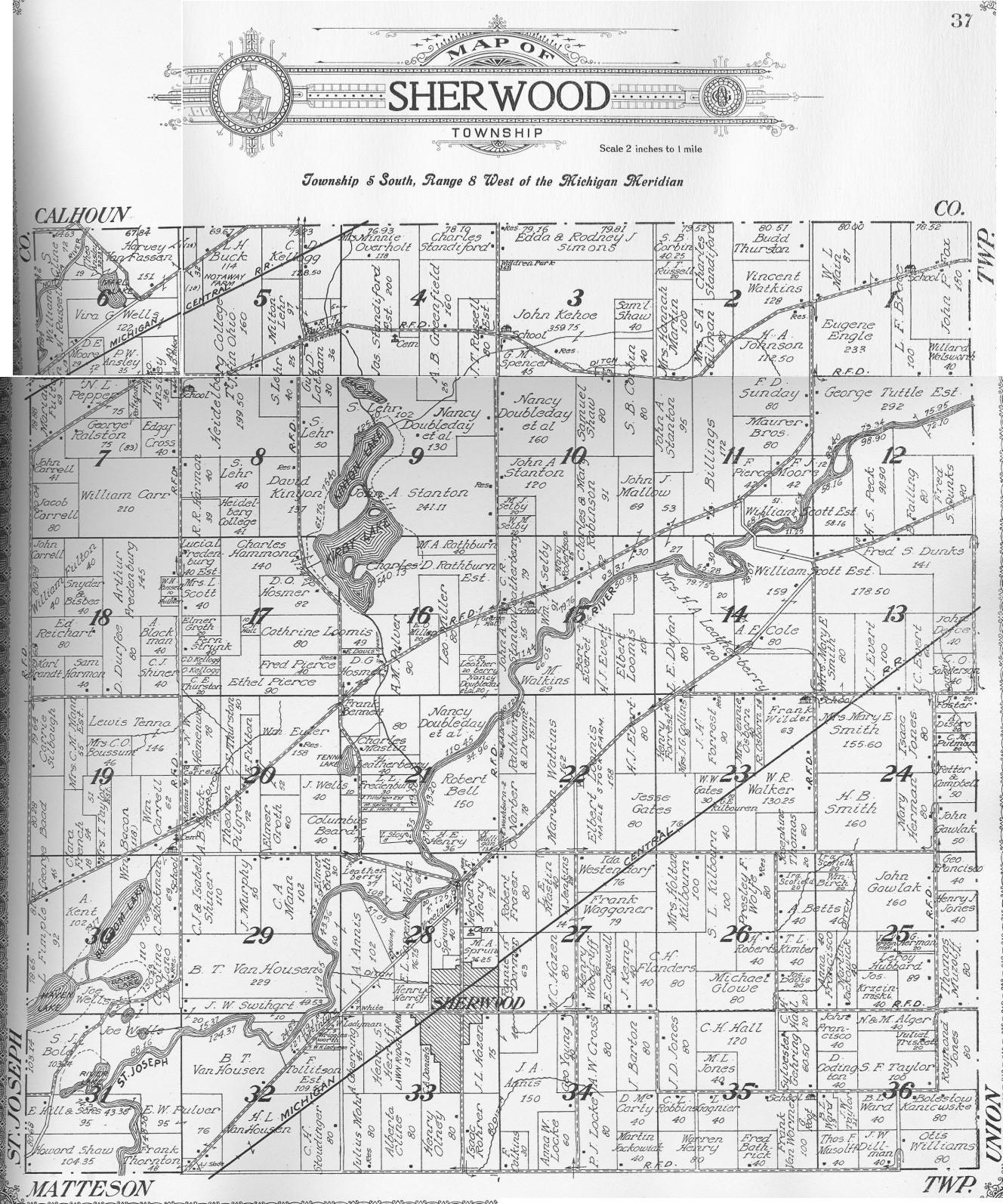 Usgenweb Archives Branch County Mi Maps