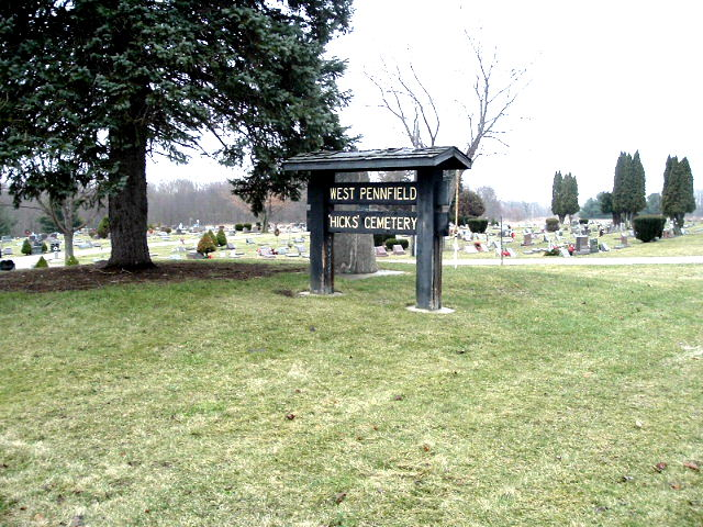 Hicks'/West Pennfield Cemetery Newer Side