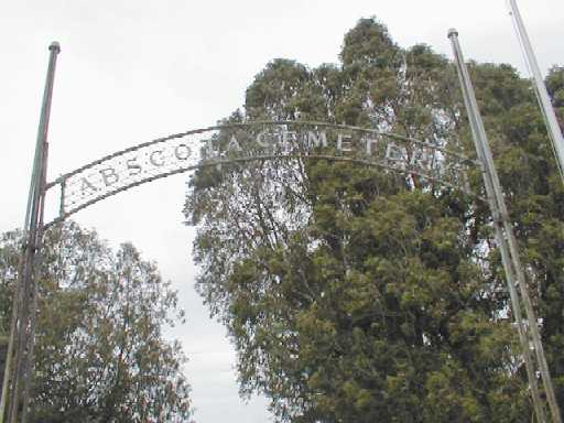 Abscota Cemetery Entrance
