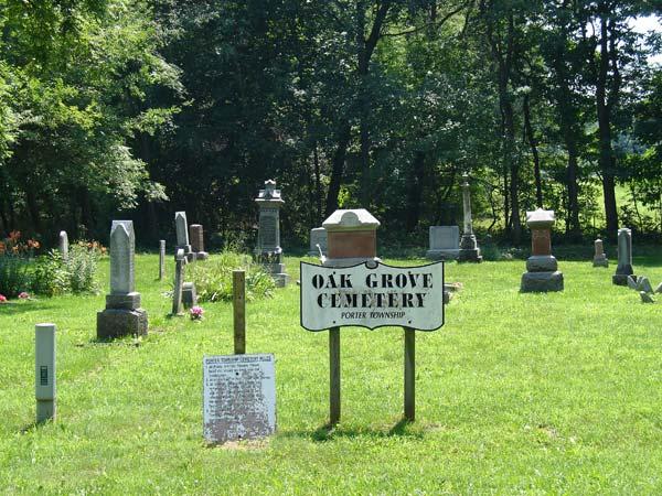 Oak Grove Cemetery Headstones, Porter Township, Cass ...