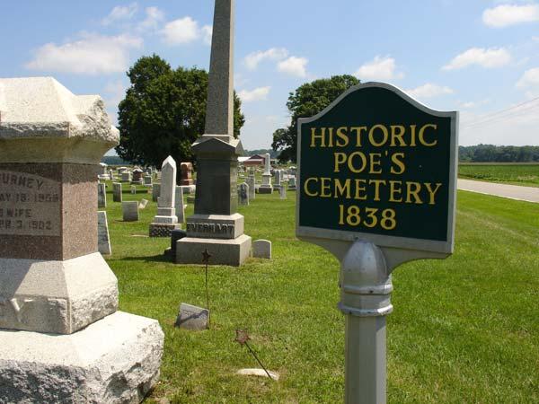 Poe Cemetery Sign