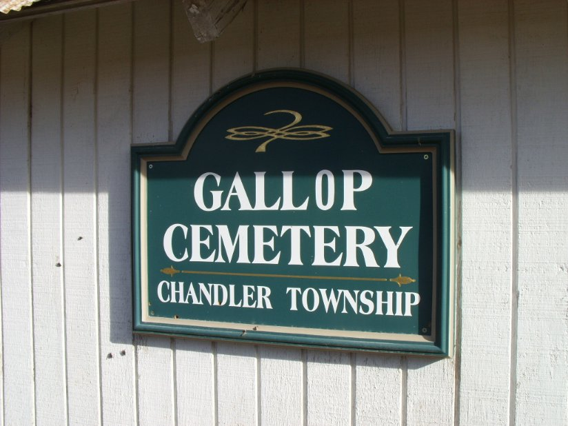 Gallop Cemetery Sign